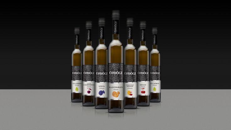 Identity and packaging design for Ördögi pálinka