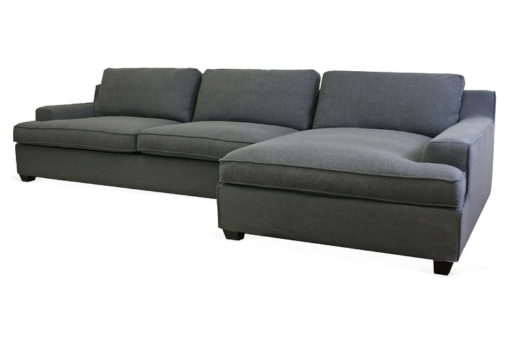 One Kings Lane - Sit Right Down - Kaspar Sectional Sofa, Charcoal