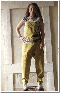 pantalon sarouel baggy femme - tunique/top en lin