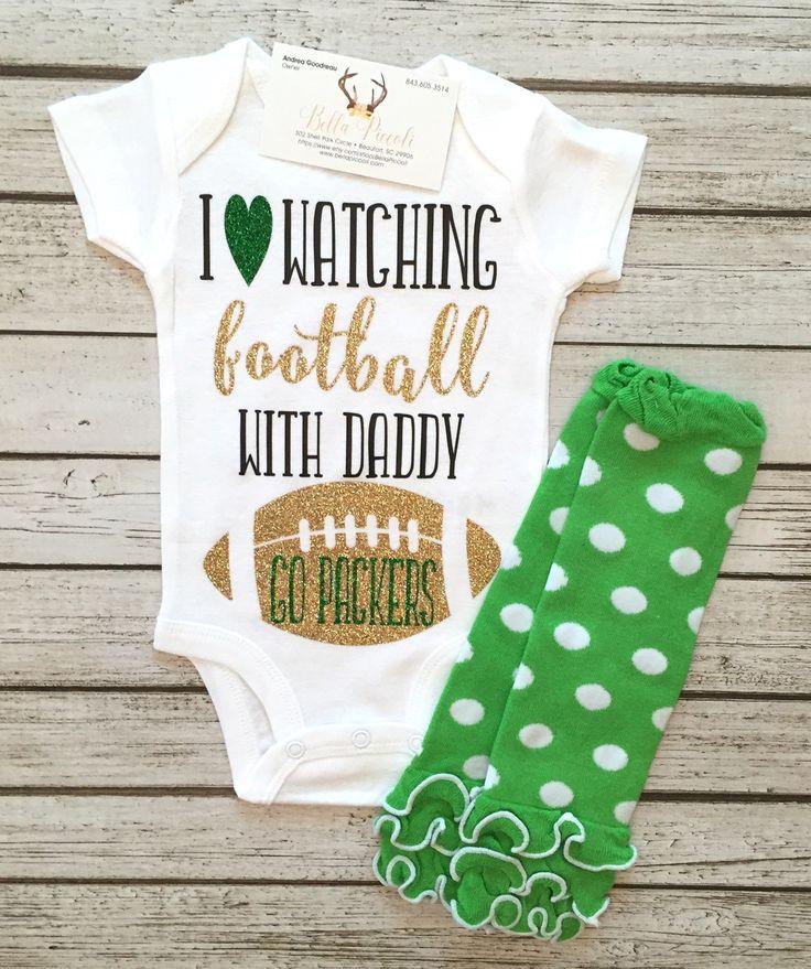 Green Bay Packers Baby Girl Bodysuit Girls Football Shirts Baby Girls Football Bodysuits - BellaPiccoli