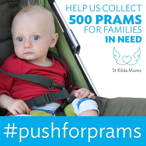 Please support Push for Prams this Spring! We happily rehome prams in all shapes and sizes, as we do our best to ensure the pram we provide best suits each family's situation. We always have a need for compact or lightweight prams for families living in apartments without lifts, sturdy walking prams for mums and dads living in areas without footpaths or who have a long walk to shops and school, prams suitable for multiples or older and younger children, and public-transport-friendly prams.