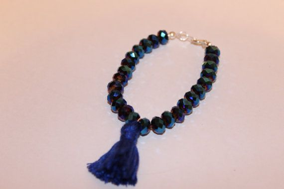 Crystal Tassel Bracelet by JennyferPicolo on Etsy