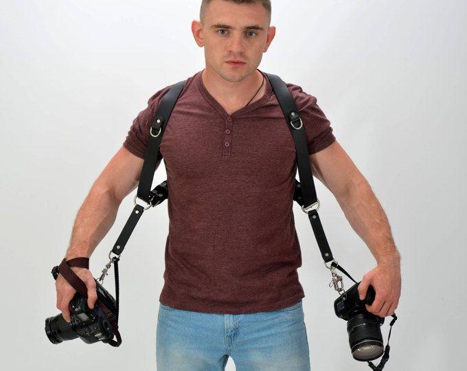 Cintura doppia fotocamera fotocamera imbrigliare cablaggio di cuoio fotocamera cinghia cinghia Multicamera fotocamera gear Multicamera imbracatura in pelle cinghia della fotocamera