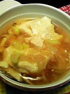 ★豆腐とネギのおろしあんかけスープ★