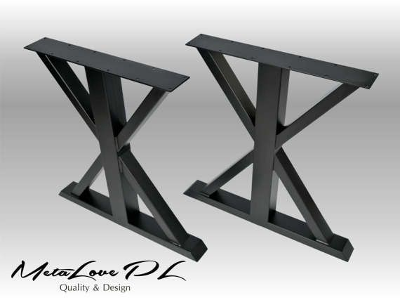 "28"" VITO Iron Table Legs, Height 26"" - 32"" SET(2)"