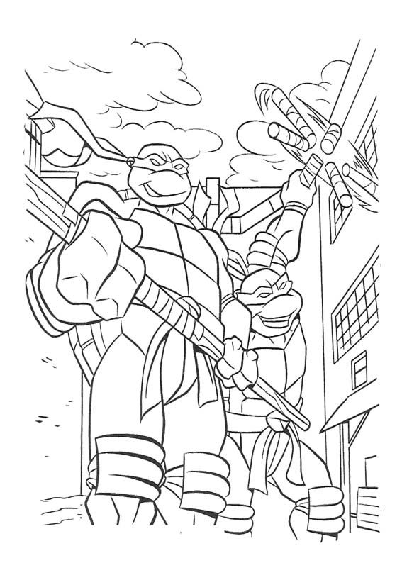 tmnt coloring pages on pinterest - photo#23