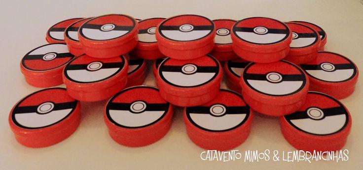 Catavento - Mimos e lembrancinhas: Festa Pokemon
