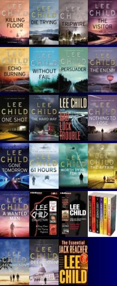 Author Lee Child / Jack Reacher Series Lee child, Book