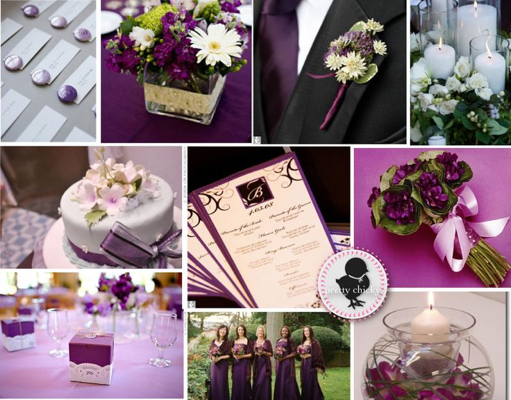 Purple Modern Wedding Ideas