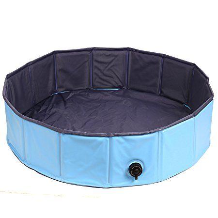 PEDY Pet Swimming Pool, Inflatable Dog Bathtub Tub Swimming Pool ...