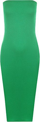 New Trending Formal Dresses: WearAll Womens Plain Boob Tube Strapless Stretch Bodycon Long Midi Dress - Jade - US 4-6 (UK 8-10). WearAll Women's Plain Boob Tube Strapless Stretch Bodycon Long Midi Dress – Jade – US 4-6 (UK 8-10)  Special Offer: $5.16  177 Reviews In a range of subdued hues this plain bodycon midi dress is a style staple this season. Featuring a open neck sleeveless boobtube...