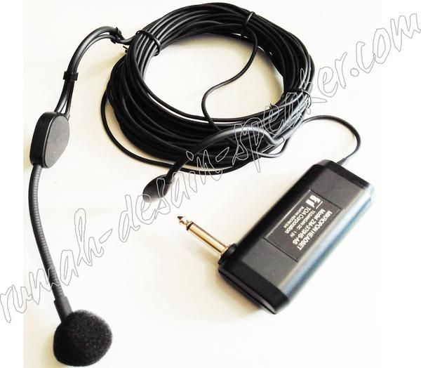 "TOA Microphone Headset ZM-370HS AS  Microphone imam headset menggunakan kabel 10meter   Spec: Type : Electret Condenser Microphone Directivity : Unidirectional Rated Impedance : 2.5 k ohms, unbalanced Sensitivity  : -51dB (1kHz, 0dB = 1V/Pa) Freq Response : 50 Hz - 12 kHz Cable Length : 10 meters (10,000mm) Finish : Battery Case: ABS, Black ; Headset : metal, Black Connector : 1/4"" unbalanced phone jack Dimension : 89.5 (w) x 38 (h) x 19 (d) mm (microphone body) Weight : 142g (without…"