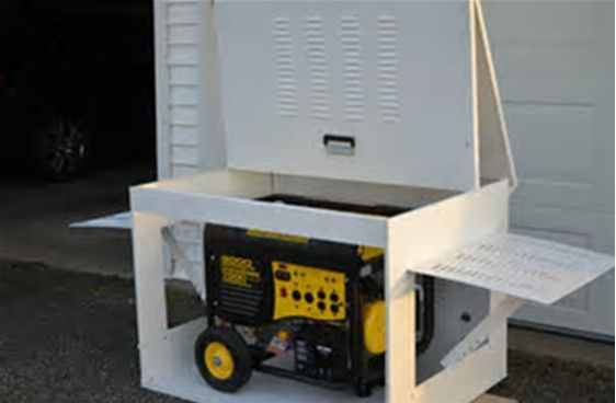 Easy Wood Portable Generator Enclosure : Images about pvans on pinterest sprinter van