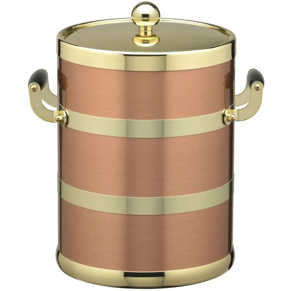 Kraftware 5-qt. Copper and Brass Ice Bucket ($85) ❤ liked on Polyvore featuring home, kitchen & dining, bar tools, ice-buckets, wine ice bucket, brass ice bucket, copper wine bucket and copper ice bucket