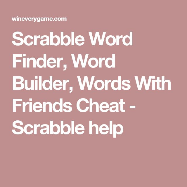 make a finder word