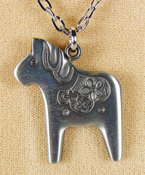 Dala horse necklace from Sweden