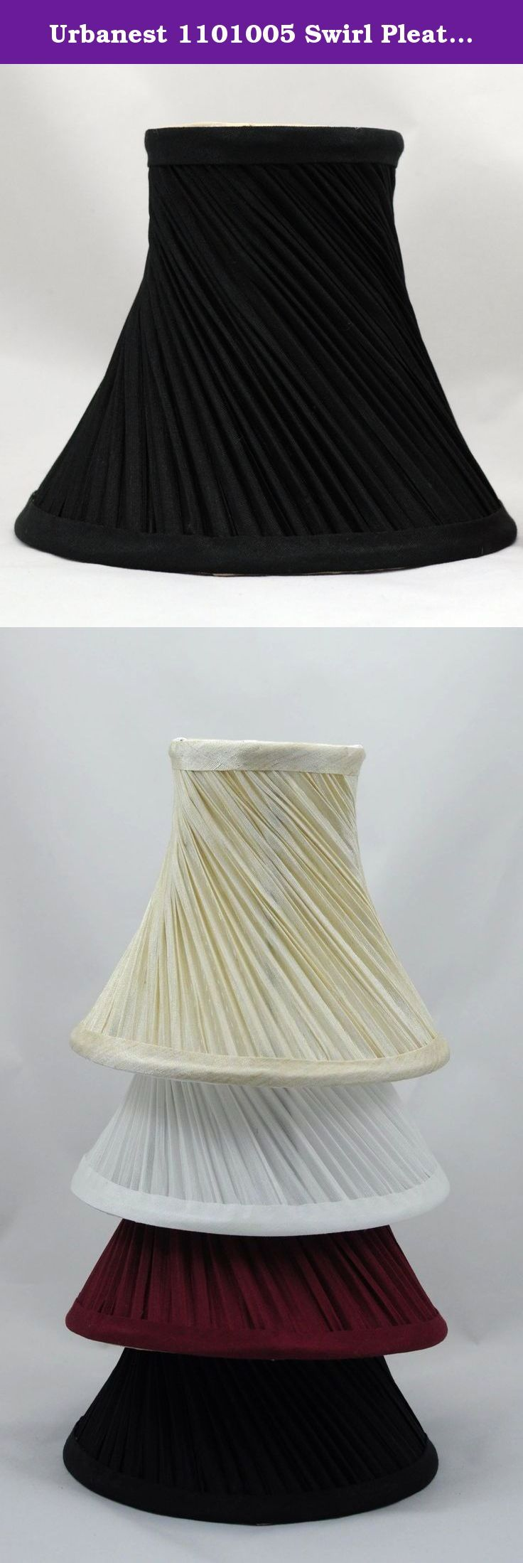 1532 best lamp shades lamps shades lighting ceiling fans urbanest 1101005 swirl pleated chandelier lamp shades 6 inch bell clip on black urbanest classic handmade swirl pleated chandelier lamp shades arubaitofo Choice Image