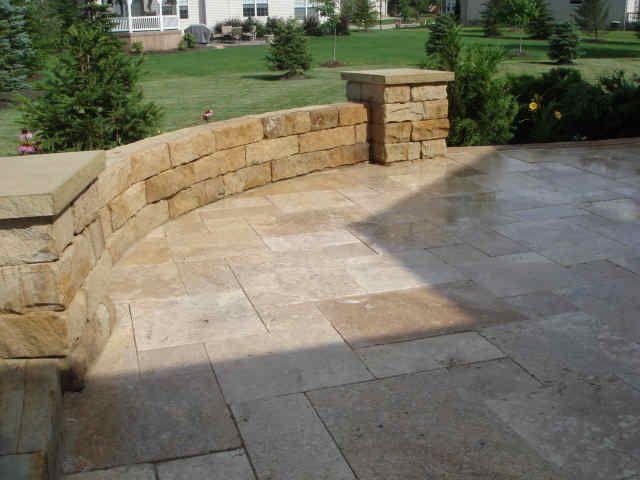 Love The Limestone Patio Pavers And Wall!