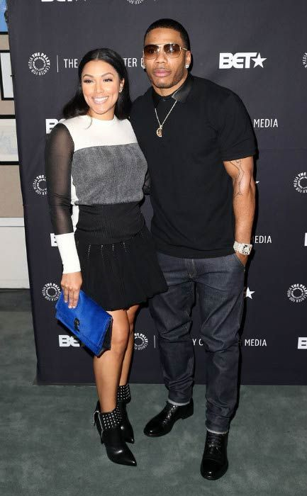 Nelly and Shantel Jackson at An Evening with Real Husbands of Hollywood event in October 2014...