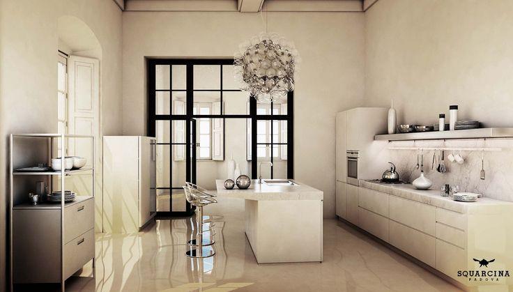 White Kitchen Squarcina Padova design