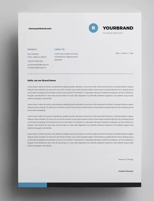 Letterhead Design Templates Ai Eps A4 Paper Size Download Letterhead Design Letterhead Template Design