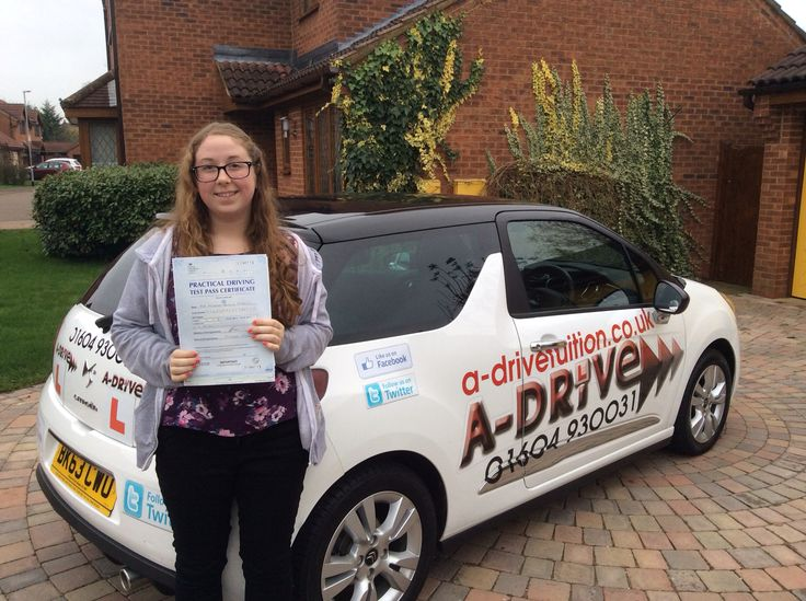 """Congratulations to Arianne Bradley of Northampton College who passed her practical driving test 1/12/14 at Northampton Driving Test Centre with Andrew Batty of www.adrivetuition.co.uk  01604 930031  #Driving #DrivingTest #DrivingSchools #DrivingLessons #DrivingInstructors #Northampton #Daventry #Wellingborough #Northants  Arianne said """"Thank you Andrew for all your help with my driving lessons and helping me to pass my test! A-Drive are a fantastic company, I would recommend them to…"""