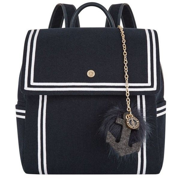 TOMMYxGIGI Nautical Backpack ($215) ❤ liked on Polyvore featuring bags, backpacks, nautical bags, logo backpacks, day pack backpack, nautical backpack and sailor bags