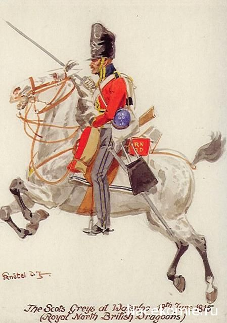 The Scots Greys at Waterloo 19th Hussards 1815 (Royal North British Dragoons)