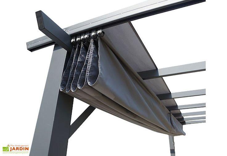 Tonnelle En Aluminium Gris 4 X 3 M Toile Polyester Orange 140 Gr M Outdoor Patio Designs Pergola Patio Ideas Diy Pergola With Roof