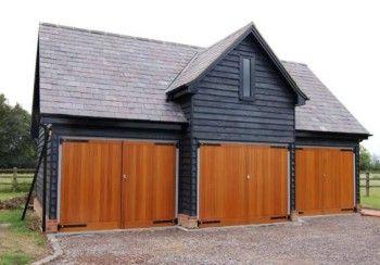 timber side hinged garage doors - prefer without black hinges