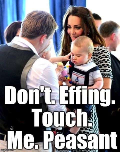 Baby King will punch you in the face if you get any closer