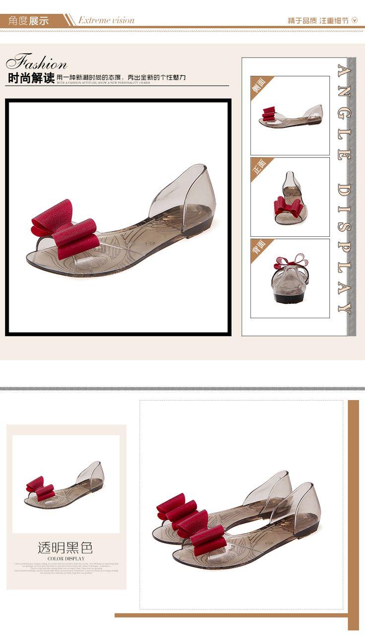 Новые летние сандалии женских корейского желе сандалии отпуск дикие сладкие прозрачный пластик студент плоские туфли - Taobao