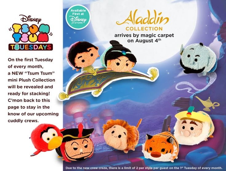 thailand silver jewelry August  39 s Tsum Tsum Release will be Aladdin   includes Aladdin  Jasmine  Genie  Iago  Jafar  Abu  Rajah  and the Sultan