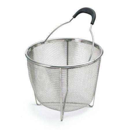 PolderStainless Steel Strainer and Steamer Basket, Silver, Multicolor