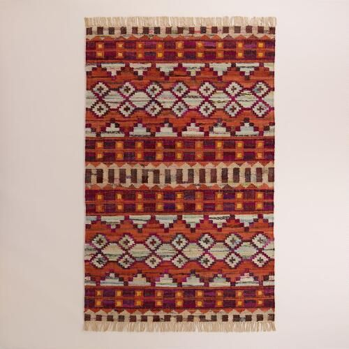One of my favorite discoveries at WorldMarket.com: 5'x8' Woven Cotton Kilim Orissa Area Rug