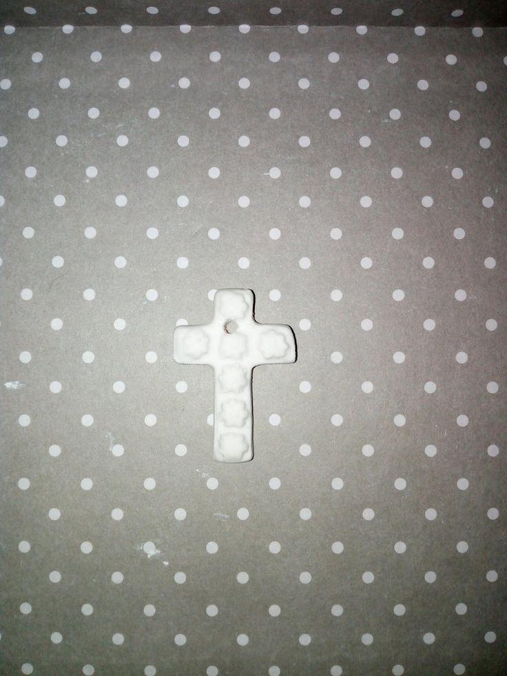Croce con fiori  in gesso ceramico, by Le creazioni di Milù, 0,40 € su…