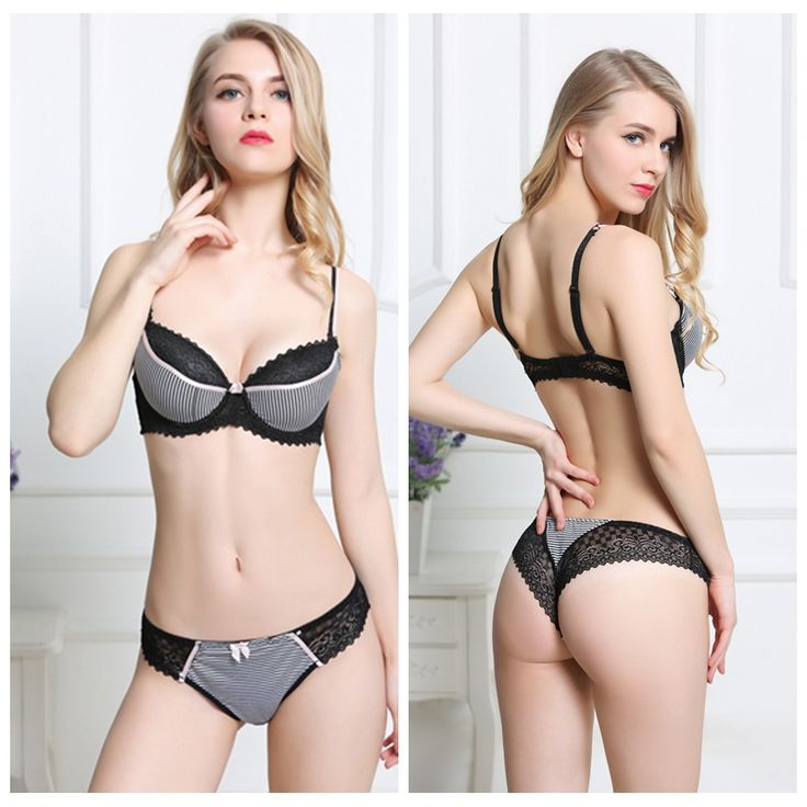 Sexy Girl Bra Sets Thin Cup Bra & Brief Sets Push Up 1/2 Cup Lace Breathable Underwear Women Bra Set White Black Pink Bra Style: Push Up,Padded Material: Cotton,Polyester.