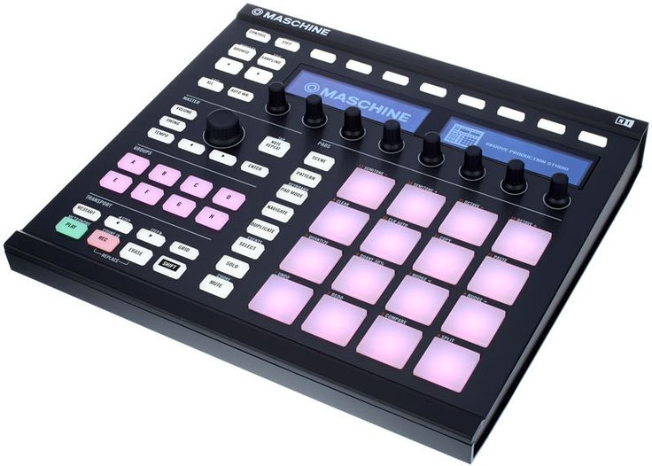 Native Instruments Maschine MK2 Black, groove production studio, set consists of pad controller and software sampler/sequencer