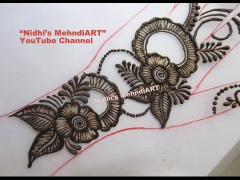 Easy DIY: Best and Beautiful ornamental jewellery henna mehndi Tutorial for EID - YouTube