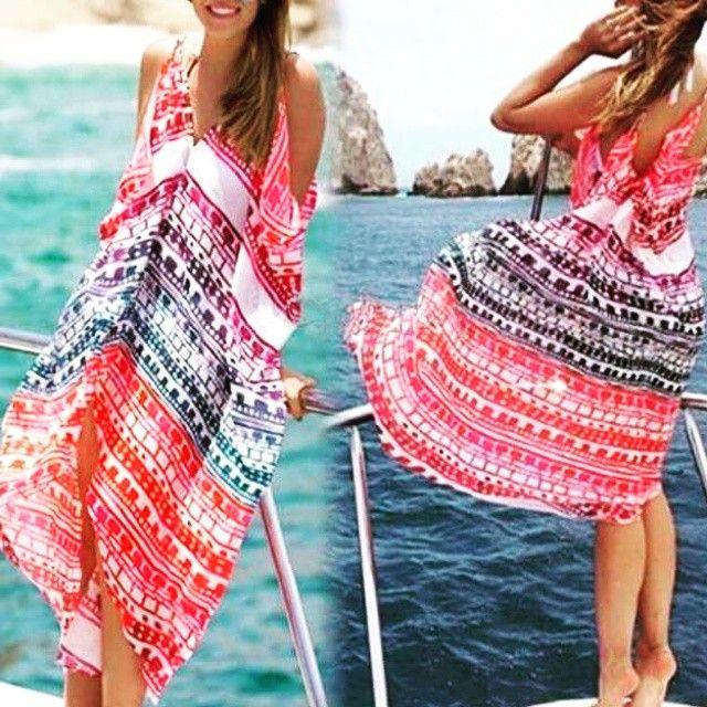 Are you BEACH-ready???    Πολύχρωμο #Παρεό - Φόρεμα για την Παραλία  ONE size * Multicolored Beachwear Dress  #kaftan #παραλία #καλοκαίρι #φόρεμα #μόδα #γυναίκα #στυλ #style #dress #beachwear #fashion #dress #design #HOT #BUY #summer