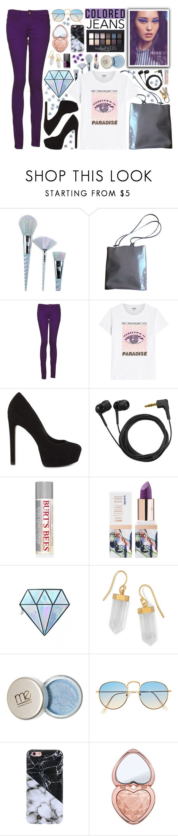 """[303]"" by yuuurei ❤ liked on Polyvore featuring Unicorn Lashes, Furla, Monkee Genes, Kenzo, ALDO, Sennheiser, Burt's Bees, Maybelline, Teeez and BillyTheTree"