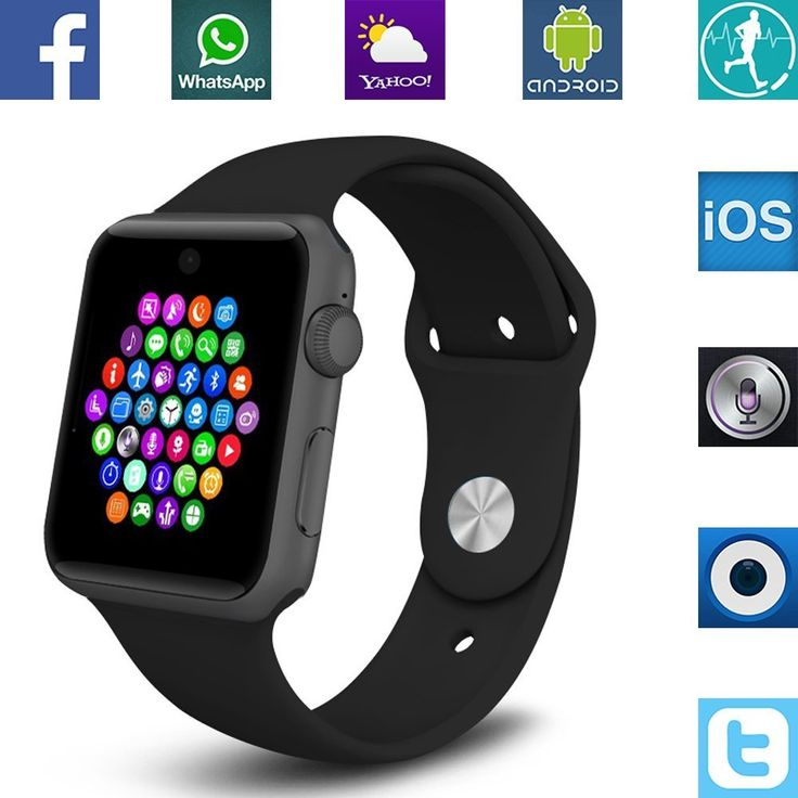 """Get appropriate price"" Banaus BS19 Newest SmartWatch with Bluetooth 4.0 Support SIM Watch Phone for Android Samsung Galaxy S4/S5/S6/S7/Note3/Note4/Note5/Note6 HTC Sony LG Xiaomi Huawei ZUK and iPhone 5/5C/5S/6/6S Black - Find and read appropriate and useful Including trends For make the right decision ""Appropriate and useful"""