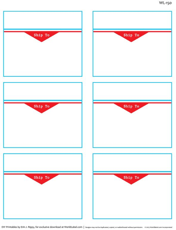 To And From Designed Shipping Label Templates | Worldlabel Blog