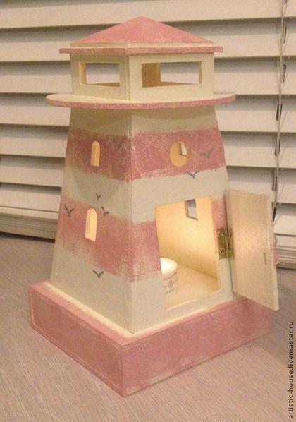 Освещение ручной работы. Заказать Маяк-малыш розовый. artistic-house. Ярмарка Мастеров. Маяк, светильник, интерьер