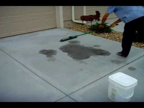 How to remove oil stains from concrete driveway www for Removing oil stains from concrete garage floor
