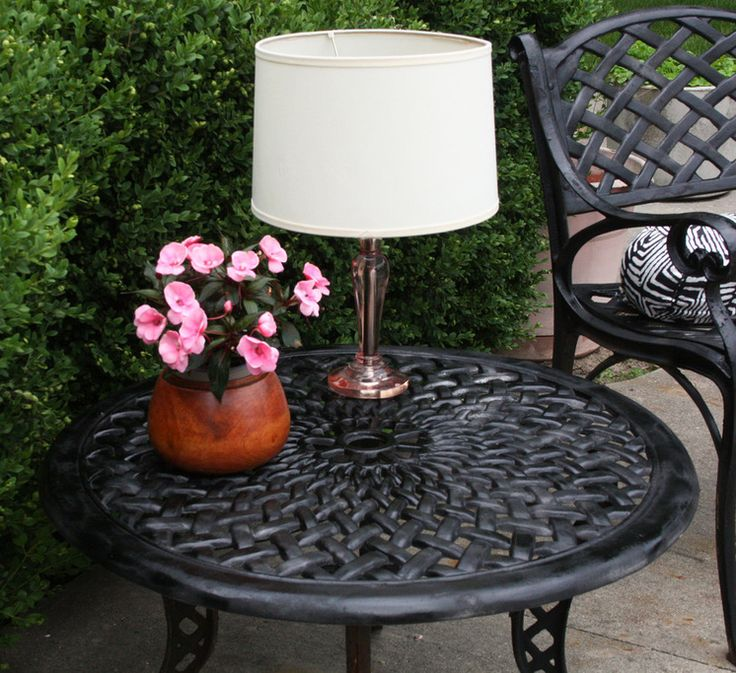 DIY tut.for solar powered table lamp for outdoor space...