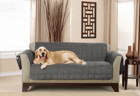 Photo of Deep Pile Velvet Non-Skid Furniture Cover
