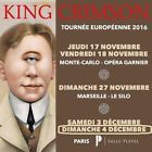 #Ticket  King Crimson place PARTERRE RANG A Salle Pleyel paris 4/12/2016 front row ticket #chf