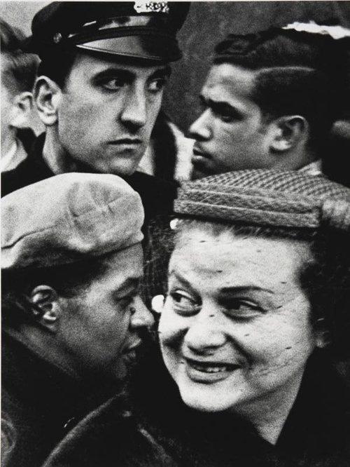 William Klein. USA. Four Heads. New York. 1954