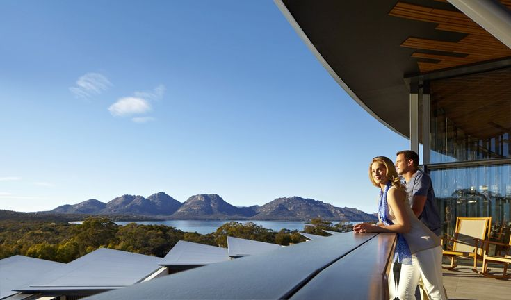 Views from Saffire Freycinet Hotel in Coles Bay, Tasmania, Australia